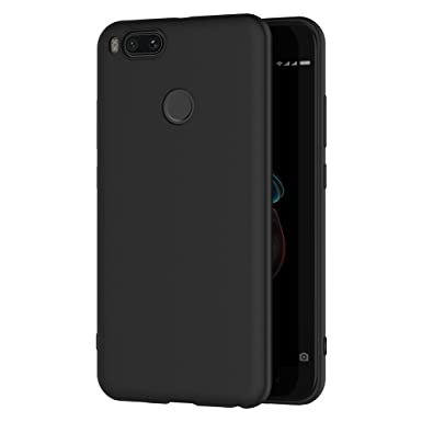 AICEK Xiaomi Mi 5X / Xiaomi Mi A1 Case, Black Silicone Cover for Xiaomi 5X  Black Case (5 5 inch)