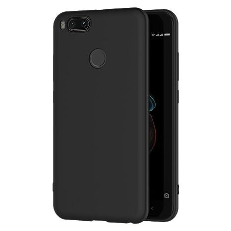 AICEK Funda Xiaomi Mi 5X / Xiaomi Mi A1, Negro Silicona Fundas para Xiaomi 5X Carcasa Xiaomi Mi 5X Negro Silicona Funda Case (5,5