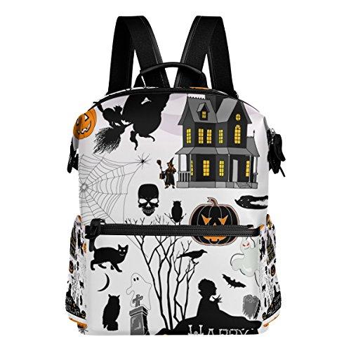 LORVIES Halloween Town School Rucksack Travel Backpack ()