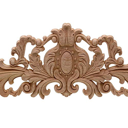 Xigeapg Vintage Plant Wood Carved Corner Applique Decorate Frame Cabinet Fireplace Door Furniture Decorative Wooden Figurines 40x11Cm