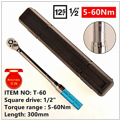 Wrench Tool 1/2 5-60N Adjustable Torque Wrench Hand Spanner Car Hand Tool Set 5-60Nm Pro