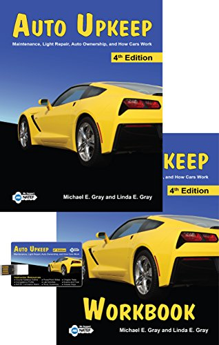 Auto Upkeep: Maintenance, Light Repair, Auto Ownership, and How Cars Work (Homeschool Curriculum Kit - Paperback Textbook, Paperback Workbook, and USB Flash Drive)