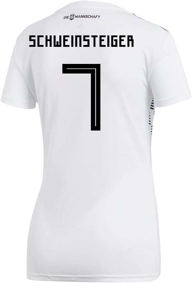 adidas Schweinsteiger #7 Germany Home Women's Soccer Jersey World Cup Russia 2018