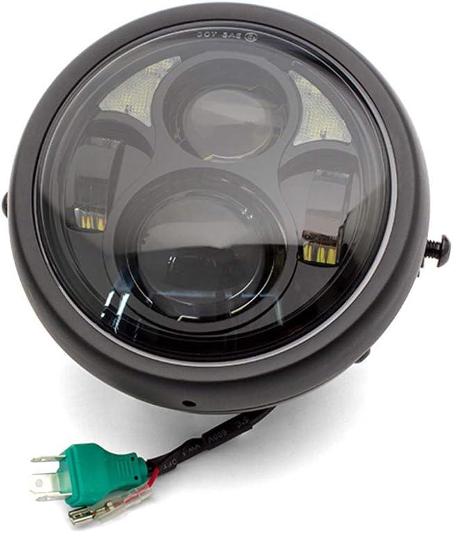 Moto LED Phare 6.5  Personnalis/é R/étro Caf/é Coureur ou Streetfighter Projet