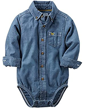 Carter's Baby Boy Button-front Bodysuit