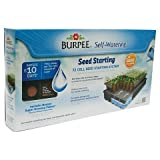 Burpee Garden Products 72 Cell Self-Watering Greenhouse Indoor Seed Starting Kit with Trays and Planting Medium
