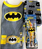 Super Bat Hero Pajamas & Toothbrushes Gift Set: Toddler 4T & 3-Pack Toothbrushes