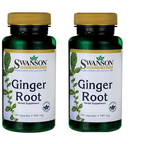 Swanson Ginger Root 540 mg 100 Caps 2 Pack For Sale