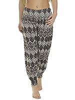 Love My Fashions Women's Printed Full Length & 3/4 Ali Baba Harem Trousers