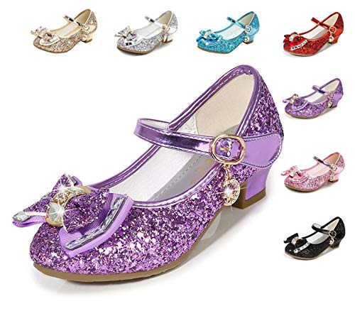 Cadidi Dinos Girls Dress Wedding Party Heel Mary Jane Princess Flower Shoes (Toddler/Little Kid/Big Kid) 1.5 M US Little Kid