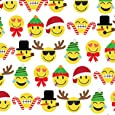 """Emoji Christmas Gift Wrap Roll 24"""" X 15' - Gift Wrapping Paper"""