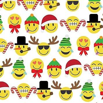 Christmas Emojis.Emoji Christmas Gift Wrap Roll 24 X 15 Gift Wrapping Paper