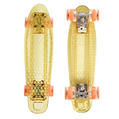 High Bounce Complete 22'' Skateboard (Clear Orange)