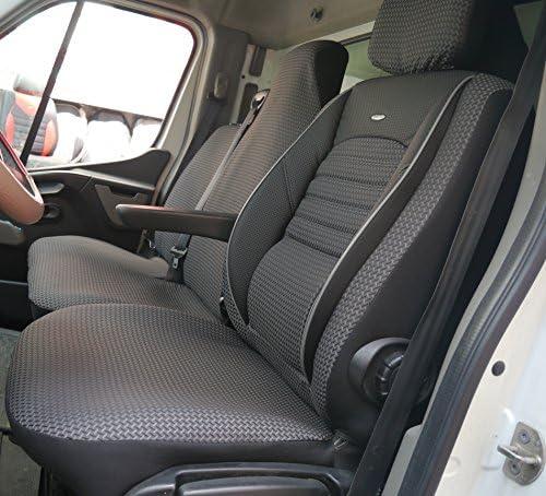 Seatcovers By K Maniac Sitzbezüge Renault Master Iii Opel Movano B Nissan Nv400 Elite Fahrersitz Doppelbank Armlehne Master T29 Schwarz Anthrazit Auto