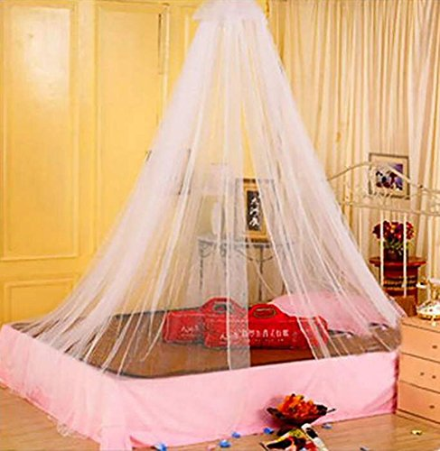 RICHY GLORY- 1pcs Elegant Round Lace Insect Bed Canopy Netting Curtain ()