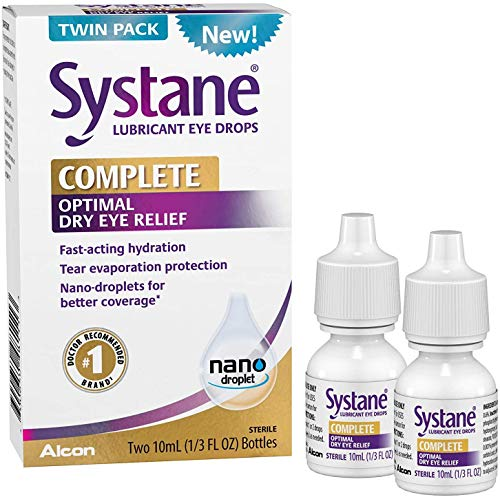 Systane Complete Optimal Dry Eye Relief Lubricant Eye Drops - 20ml, Twin Pack.