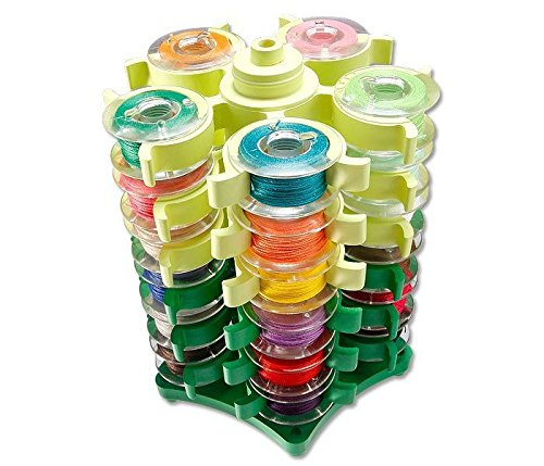Embroidery Bobbins Tower Storage for 30 BOBBINS Sewing Quilt ST-A16 Bobbin Town Bobbin case