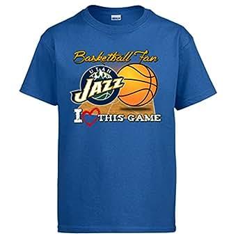 Camiseta NBA Utah Jazz Baloncesto Basketball fan I Love This Game - Azul Royal, 3-4 años