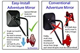 Jeep Mirrors JK JL TJ YJ CJ. Easy-Install Adventure Mirrors + Bonus Product. Improved Design. For ALL Jeep Wrangler. Quicker install door hinge mirror for safe doors off