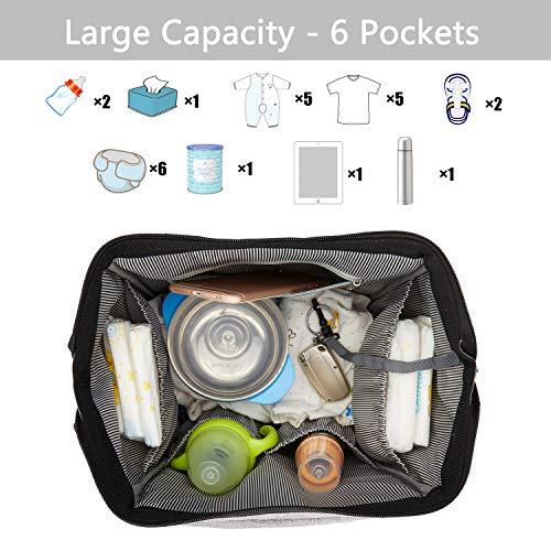 incarpo Baby Diaper Backpack Large Capacity Diaper Bag Tote for Baby Care Multi-Function Waterproof Travel Backpack