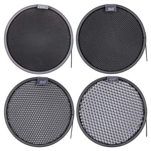(Interfit MR7G101 Studio Essentials Quality - 4 Honeycomb Grid Bundle 10/20 / 30/40 for Standard 7