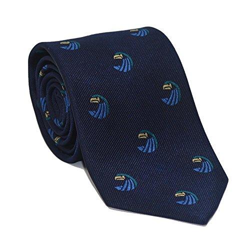 SummerTies Salve Regina University Necktie - Seahawk Logo, Officially Licensed, Woven Silk, Standard Length