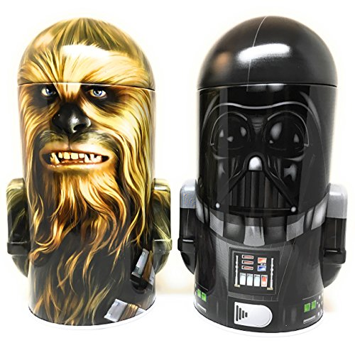 Star Wars Darth Vader and Chewbacca Steel Coin Banks (Total of 2 Banks) Disney Bedroom Dresser