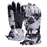 Waterproof Snow Ski Gloves for Men Thinsulate Snowboard Gloves for Adults Windproof Winter Gloves for Snowboarding Skiing Motorcycling One Size Fits All
