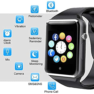 Bluetooth Smart Watch - ANCwear Smartwatch for Android Phones with SIM Card Slot Camera, Fitness Tracker Watch with Sleep Monitor, Step Counter Watch for Kids Women Men Compatible Android iOS Phones