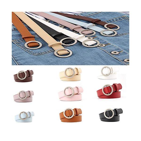 Firally Hot sale Cintura Donna Fibbia Tonda Senza Fibbia 105CM Stile Casual Dimensioni Regolabili Elastica Cintura in… 4 spesavip