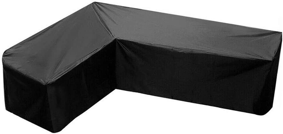 L Shape Sofa Cover Water-Resistant Sectional Furniture Cover Dustproof Waterproof Sunscreen 85 Inch Anti-dust Patio Outdoor Garden Furniture Protector 300x300x98cm