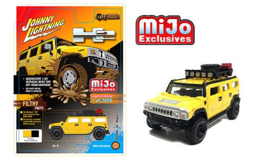 - DIECAST 1:64 Off-Road - Hummer H2 Wagon with ROOF Rack and Accessories (Yellow) JLCP7156-24 by JOHNNY LIGHTNING