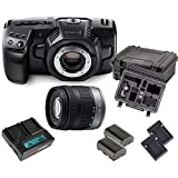 Kit Blackmagic Cinema Camera Pocket 4K + LUMIX Lens 14-42mm + Battery Pack Hedbox + Hardcase …