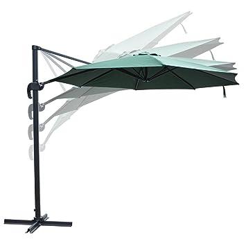 Wonderful 10 Feet Rome Outdoor Patio Umbrella Cantilever Hanging Offset Crank Tilt  Pedal UV30