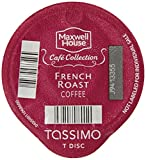Tassimo MAXWELL HOUSE Cafe Collection, French Roast Coffee, Dark, 16-Count T-Discs, (Pack of 2)