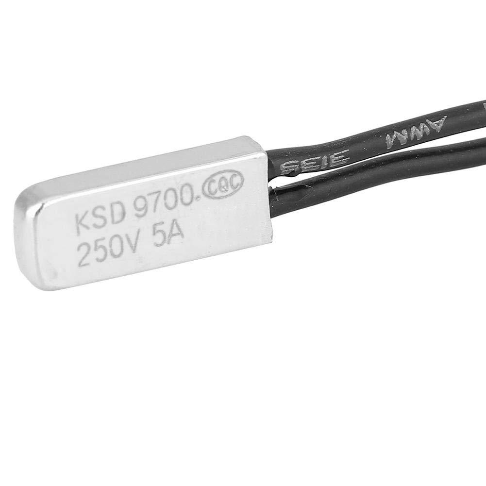 Termostato Protector t/érmico Interruptor de control de temperatura KSD9700 Protecci/ón contra altas temperaturas 40 ℃