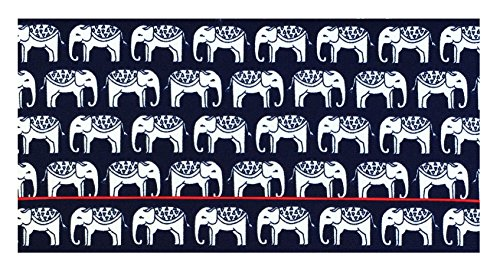 - War Elephants Cotton Checkbook Cover for Top Tear Checks, Checkbook Holder for Women, Checkbook Wallet for Men, Check Writer Cover, Check Register Holder and Checkbook Keeper