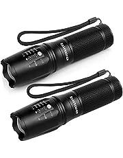 LED Taschenlampe, Binwo Taktische Taschenlampe Outdoor Superhelle Wasserfest LED Taschenlampen mit Zoom für Camping, Wandern und Notfälle