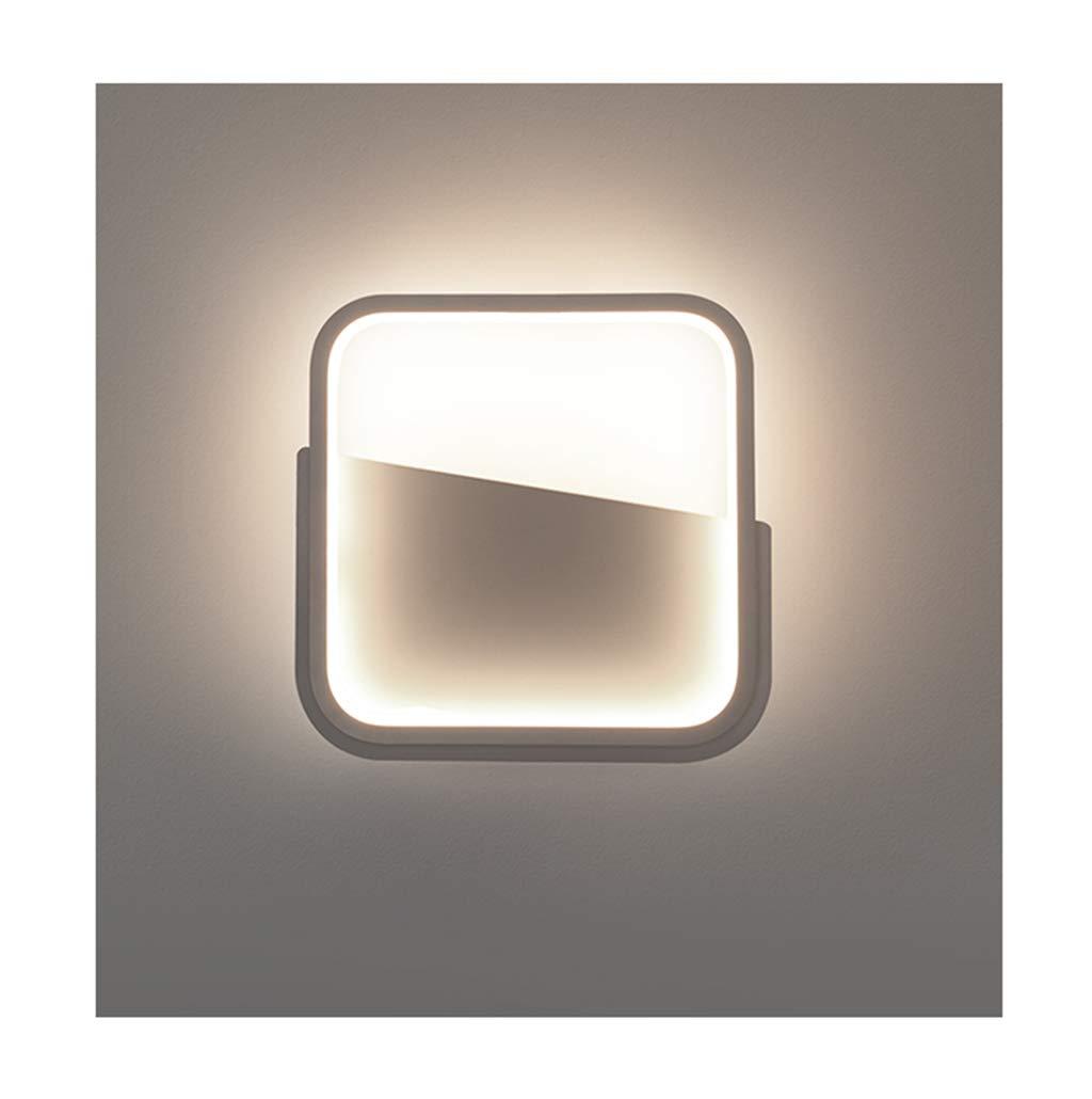 wandlampe Wandleuchte Moderne minimalistische LED Schmiedeeisen Wohnzimmer Schlafzimmer Studie Flur Wandleuchte Schlafzimmerleuchten (Farbe   weißes Licht)
