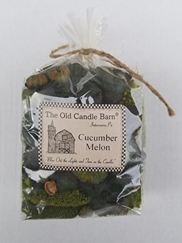 Old Candle Barn Cucumber Melon Potpourri Small Bag - Can be Used All Year Long - Perfect for Spring and Summer Decoration or Bowl Filler