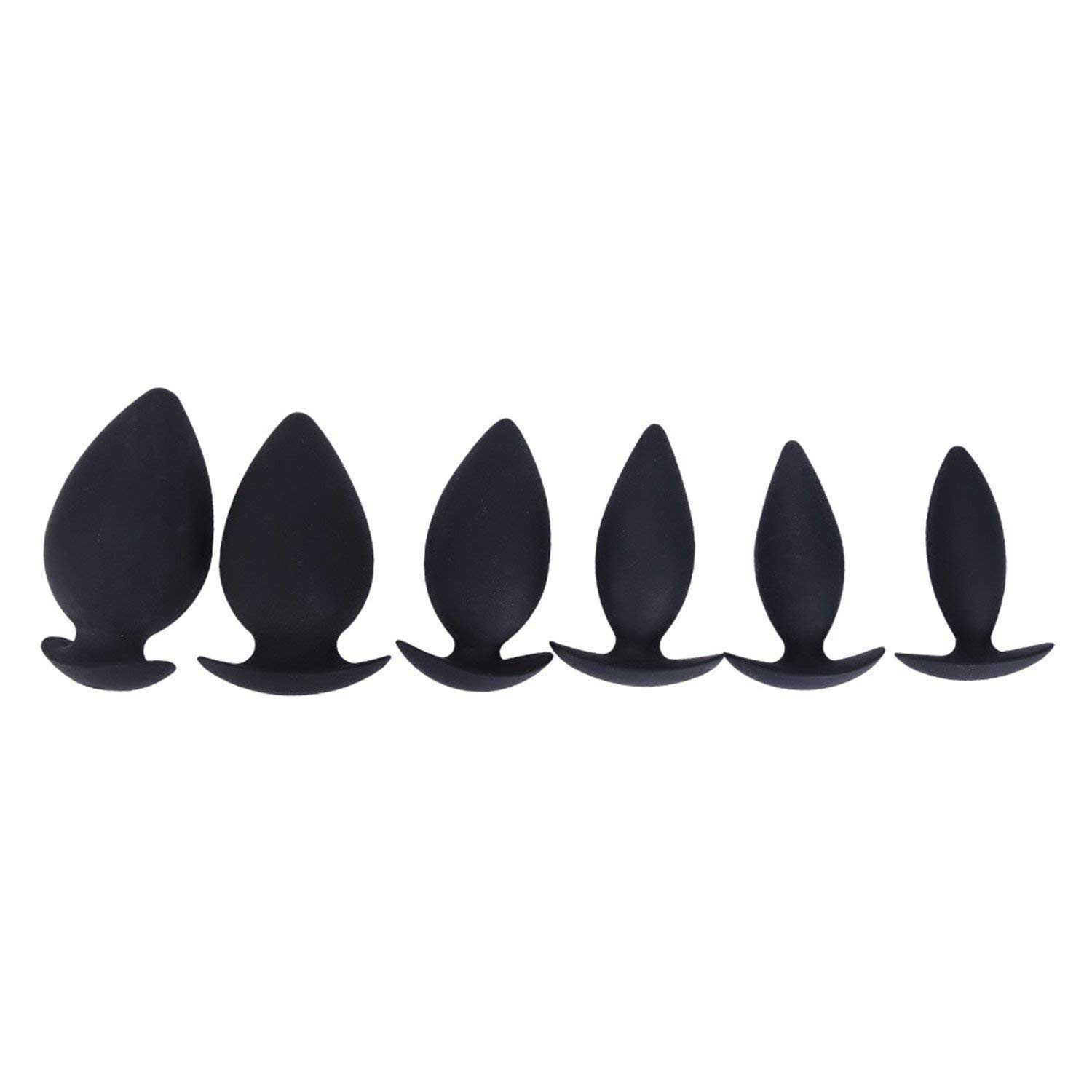Sex Sweet Men and Women 6 Sizes Silicone Anal Plug Butt Plug Anal Dilator Erotic Toys Adult Sex Toys for Men and Women Gay Anal Massage Vibrating 7