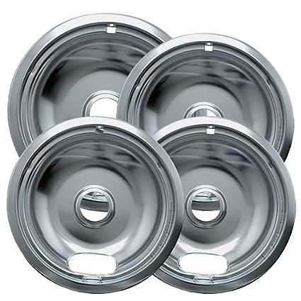 Amazon Com Range Kleen 10124xz Chrome Style A Drip Pans Sets Of 4
