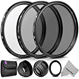 Essential Accessory Kit for CANON PowerShot SX530 HS, SX520 HS, SX60 HS, SX50 HS, SX40 - Includes: Filter Adapter Ring + Altura Photo Filter Kit (UV-CPL-ND4) + Collapsible Rubber Lens Hood + Lens Cap