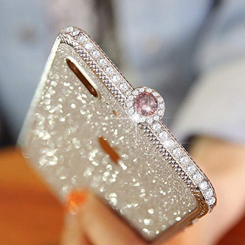 Quality Silver Show Mosaic (CLEAVE WAVES for iPhoneXs Max Case,Bumper Frame Crystals Diamond Sparkle Protective Cover Shiny Jeweled Fashionable Design,Silver)