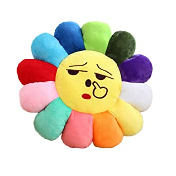 Amazon.com: remeehi Emoji Respaldo Silla Cojín Cara ...