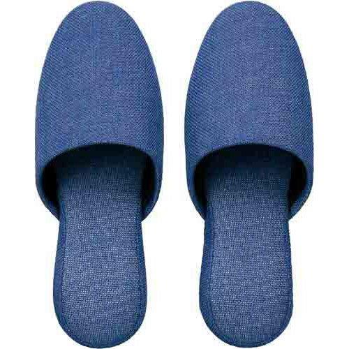 カウネット 洗える布製スリッパ ブルー 30足入 B0151AERJS
