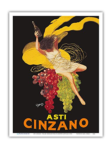 Asti Cinzano - Asti Spumante - Italian Sparkling White Wine - Vintage Advertising Poster by Leonetto Cappiello c.1910 - Master Art Print - 9in x (Asti Spumante)