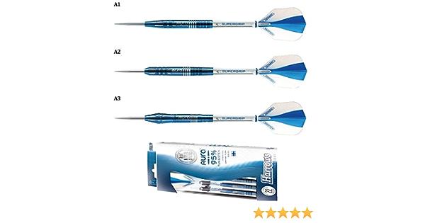 Harrows Aura 95/% A2 Tungsten w// Blue Nitride Steel Tip Darts 22 Grams