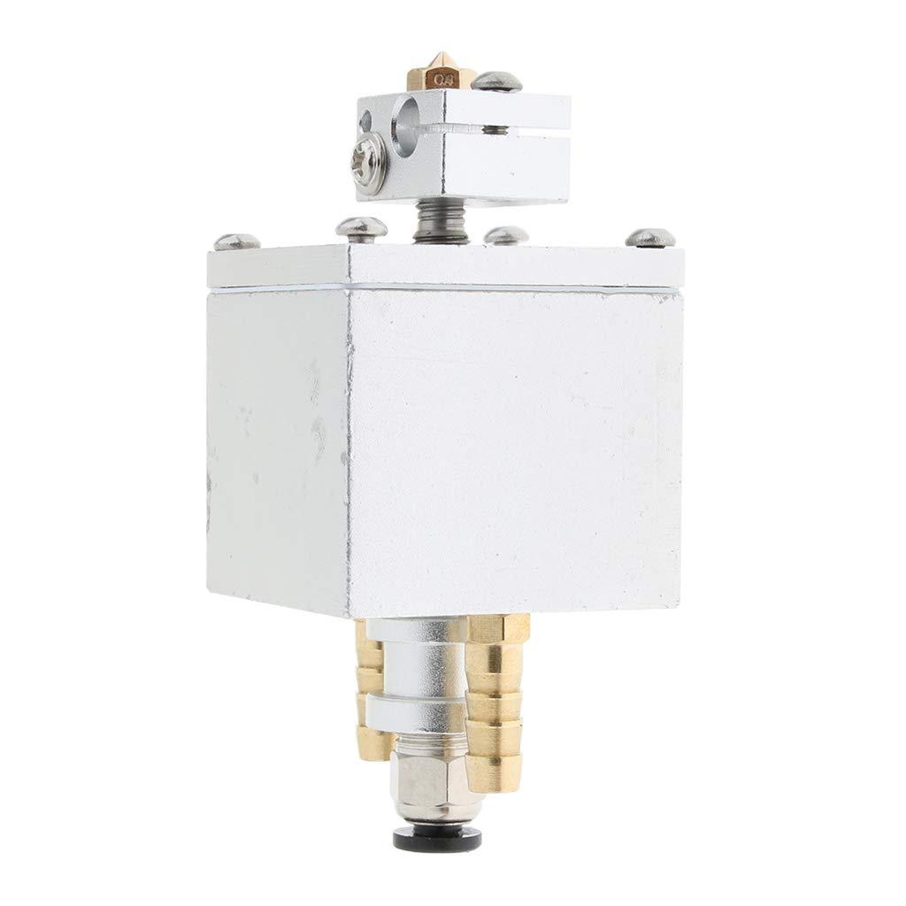 H HILABEE Reemplazo De 0.4mm Single Extruder V6 Kit De Cabezal ...