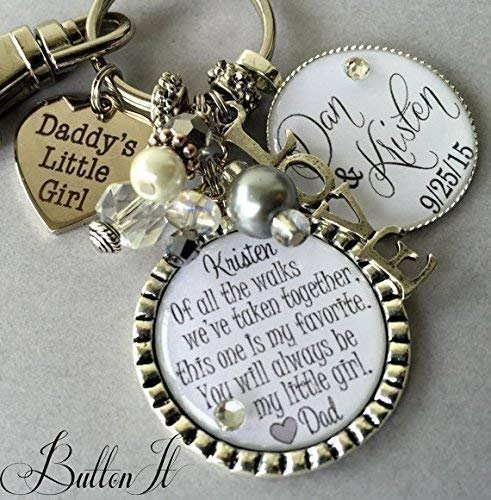 bridal bouquet charm wedding bouquet charm daughter wedding gift ill love you forever